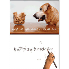 Dog Speak Birthday Card - May All Your Dreams... | Singpet.Com