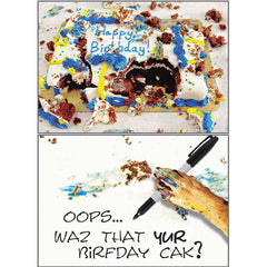 Dog Speak Birthday Card - Messy Cake | Singpet.Com