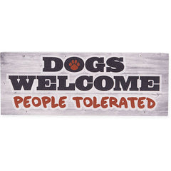 Dog Speak Large Pallet Box Sign - Dog Welcome... | Singpet.Com