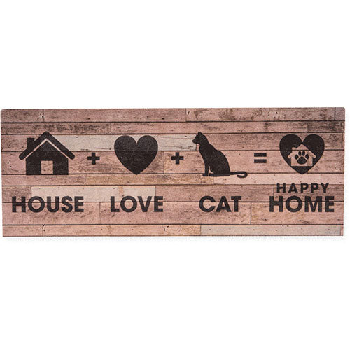 Dog Speak Large Pallet Box Sign - House + Cat + Love = Home | Singpet.Com