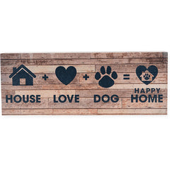 Dog Speak Large Pallet Box Sign - House + Dog + Love = Home | Singpet.Com