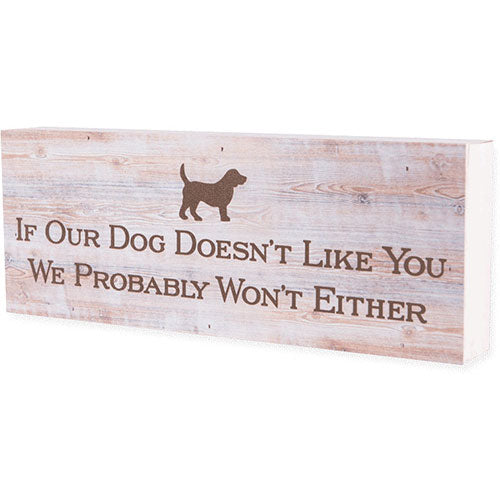 Dog Speak Large Pallet Box Sign - If Your Dog... | Singpet.Com