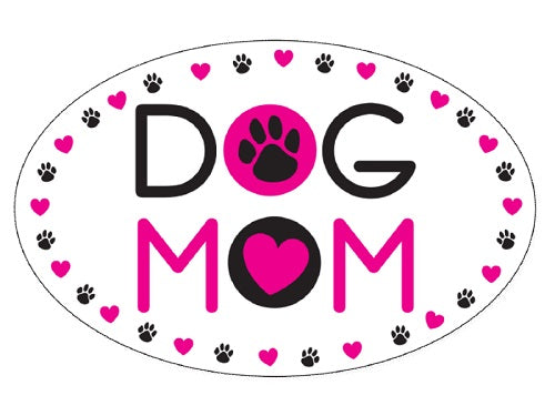 Dog Speak Oval Shaped Magnet Dog Mom | Singpet.COM
