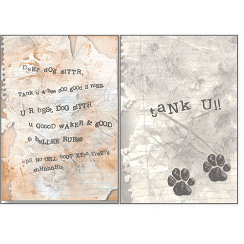 Dog Speak Pet Sitter Card - Dog Sitter Letter | Singpet.Com