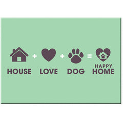 Dog Speak Standard Magnet - House + Love + Dog = Happy Home | Singpet.Com