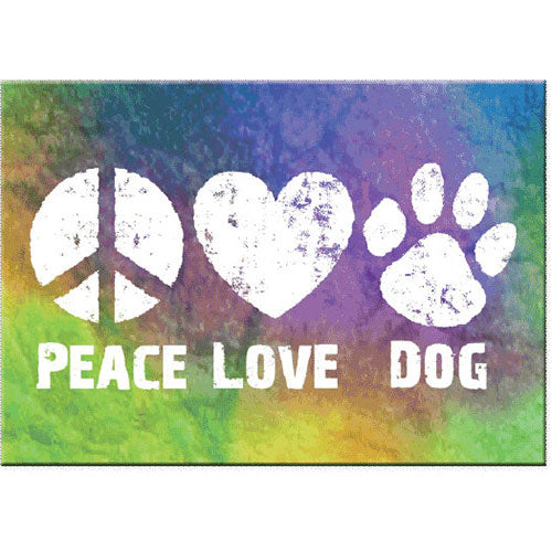 Dog Speak Standard Magnet - Peace Love Dog | Singpet.Com