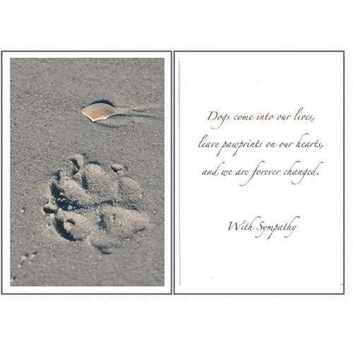 Dog Speak Sympathy Card - Paw Prints | Singpet.Com