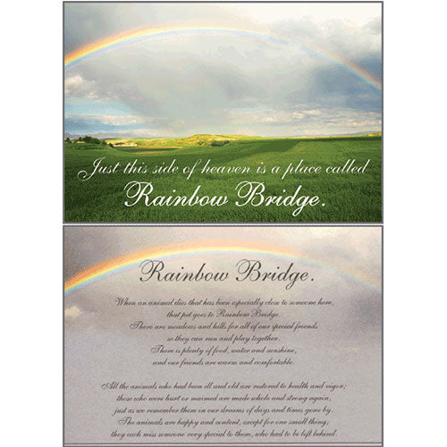 Dog Speak Sympathy Card - Rainbow Bridge | Singpet.Com