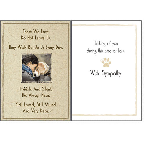 Dog Speak Sympathy Card - Those We Love Do Not Leave Us | Singpet.Com