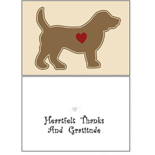 Dog Speak Thank You Card - Heartfelt Thanks & Gratitude | Singpet.Com