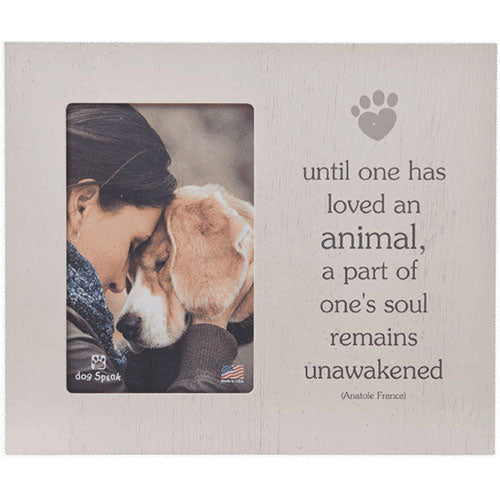 Dog Speak Dogs Come Into Our Lives Vertical Dog Picture Frame