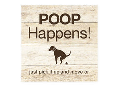 Dog Speak Wood Pallet Magnet Poop Happens | Singpet.COM