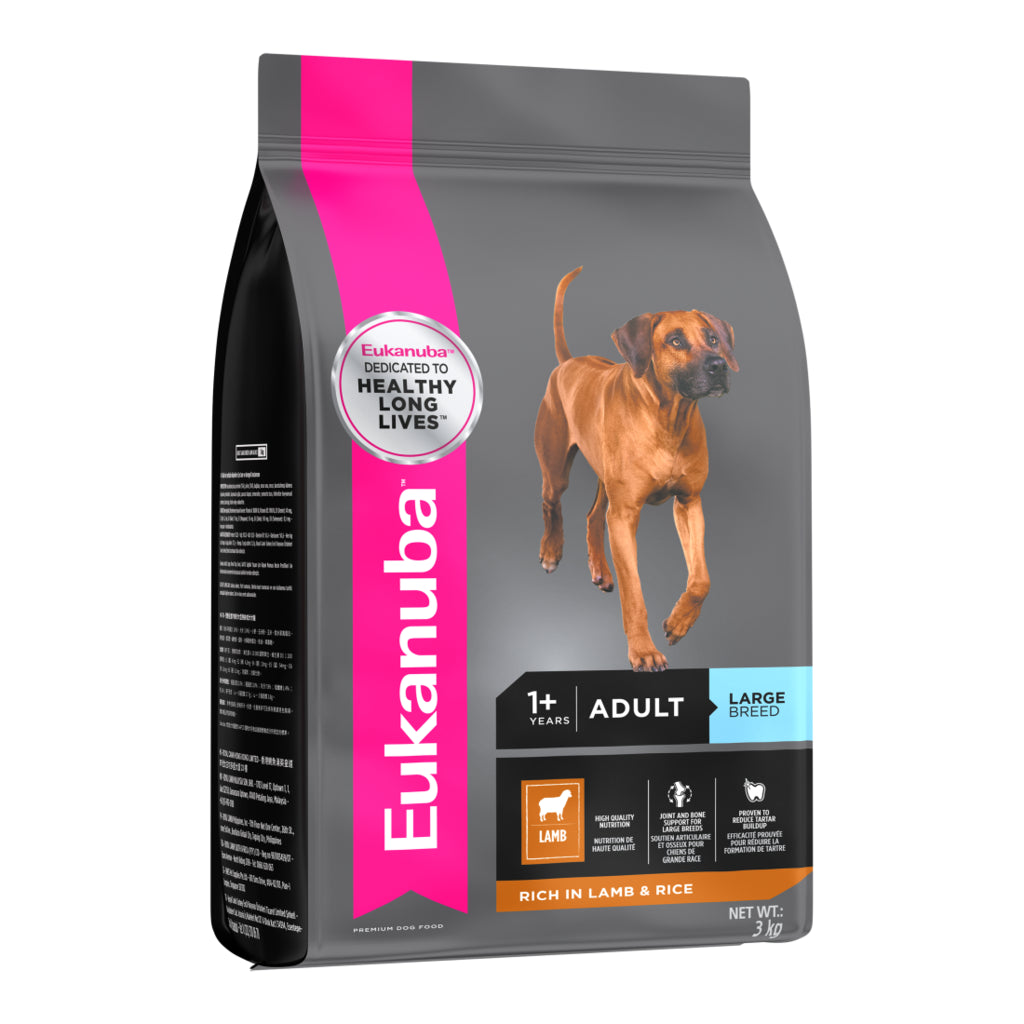 Eukanuba Adult Dry Dog Food For Large Breed, Lamb & Rice | Singpet.COM