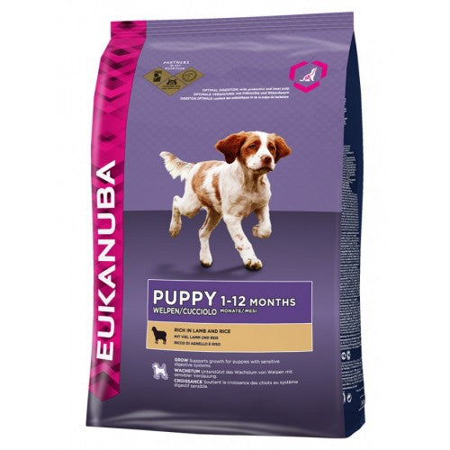 Eukanuba Puppy Lamb & Rice Dry Dog Food For Small & Medium Breed|Singpet.COM