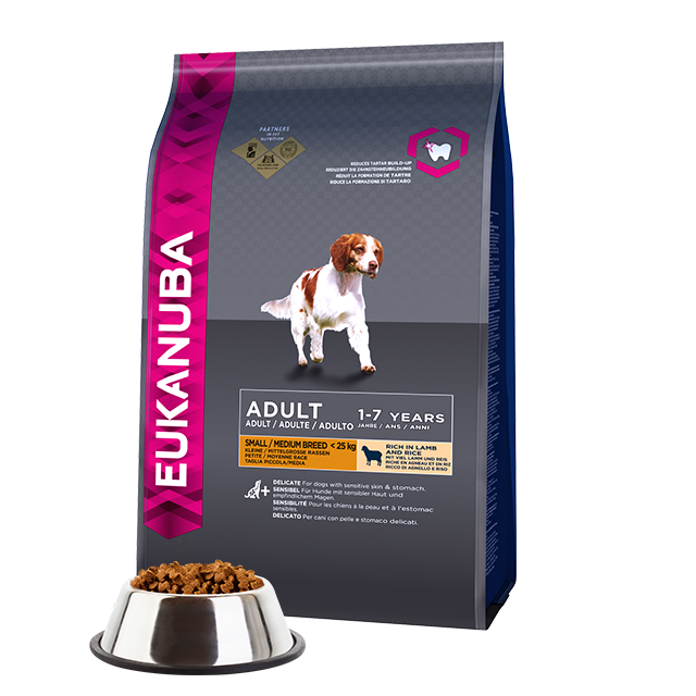 Eukanuba Adult Dry Dog Food For Small & Medium Breed, Lamb & Rice| Singpet.COM