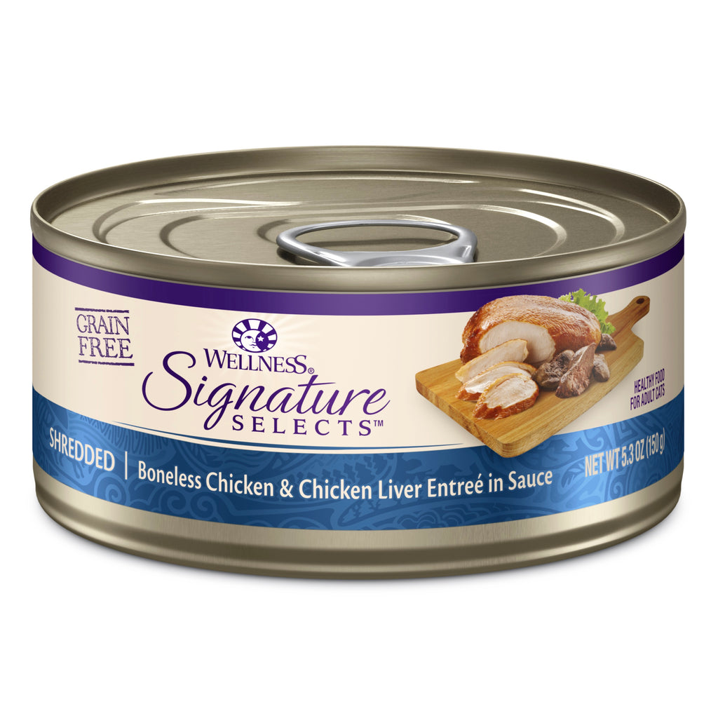 Wellness  Signature Selects Grain-Free Shredded Bonless Chicken and Chicken Liver Entree
