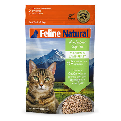 Feline Natural Freeze Dried Chicken and Lamb Feast Cat Food | Singpet.Com