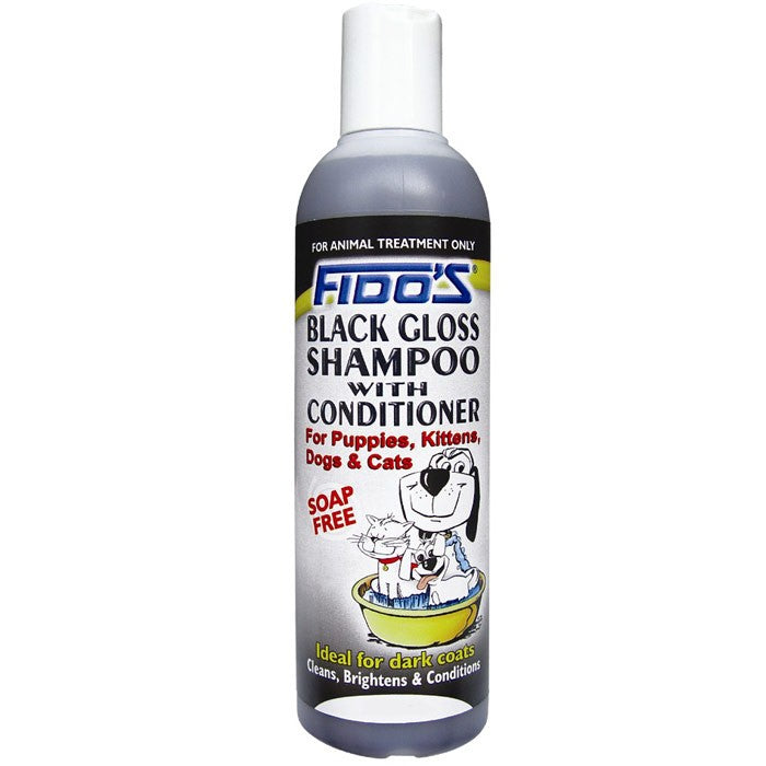 Fido's Black Gloss Shampoo with Conditioner For Puppies, Kittens, Dogs & Cats, 250ml | Singpet.COM