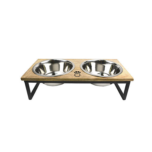 GF Pet Wood & Metal Feeder For Dogs | Singpet.Com