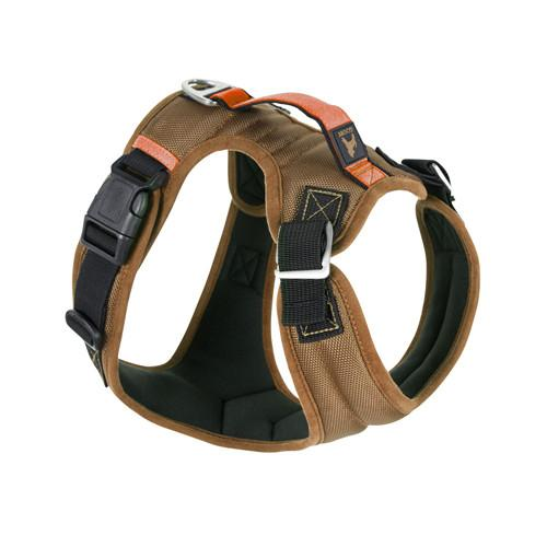Gooby Pioneer Dog Harness, Sand (Brown) | Singpet.Com.Sg