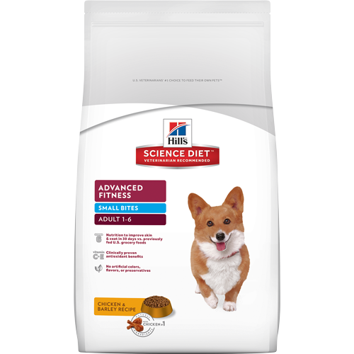 Hills Science Diet Adult Advanced Fitness Chicken & Barley Recipe Small Bites Dry Dog Food