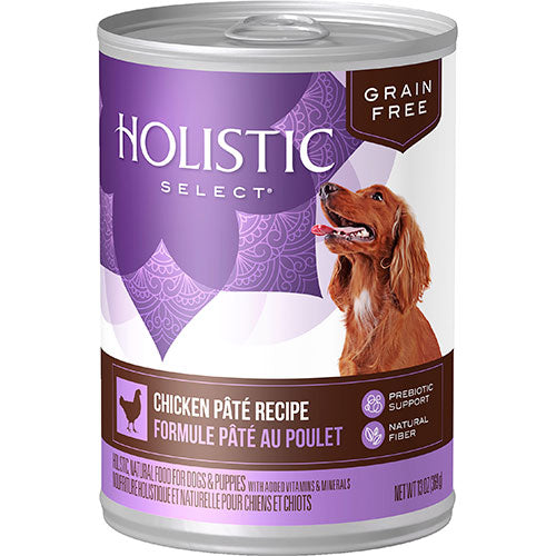 Holistic Select Grain Free Chicken Pate Recipe Canned Wet Dog Food | Singpet.Com