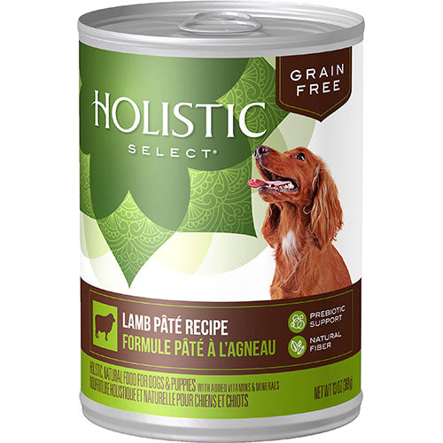 Holistic Select Grain Free Lamb Pate Recipe Canned Wet Dog Food | Singpet.Com