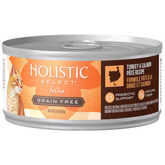 Holistic Select Grain Free Turkey & Salmon Pate Canned Wet Cat Food | Singpet.Com