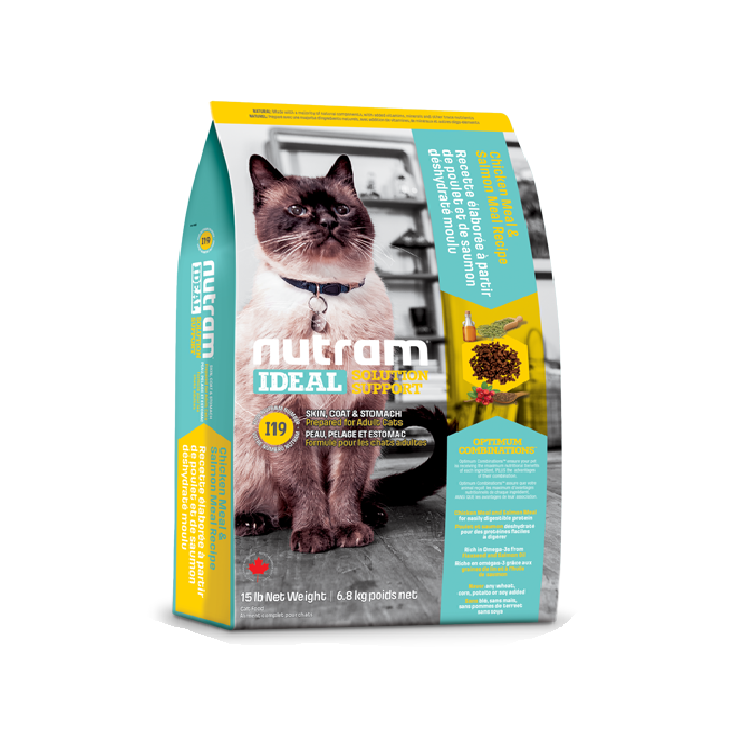 I19 Nutram Ideal Solution Support® Skin, Coat and Stomach Food For Cat  | Singpet.Com