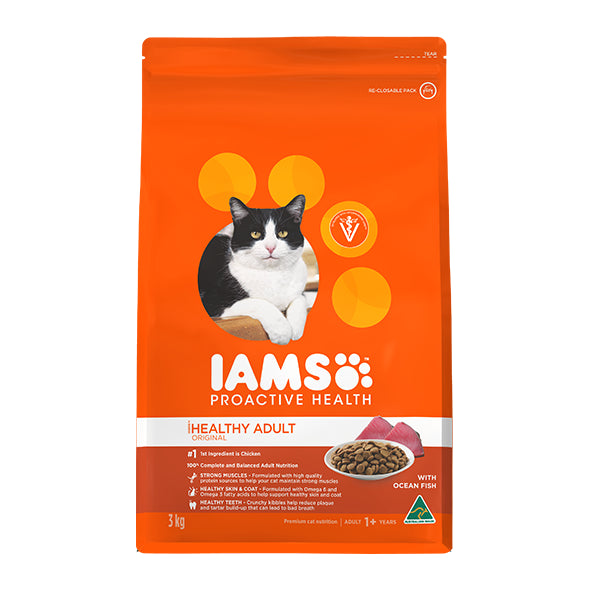 Iams Proactive Health Adult with Wild Ocean Fish & Chicken Dry Cat Food | Singpet.Com