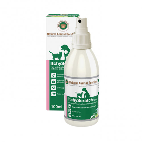 Natural Animal Solutions ItchyScratch Skin Spray For Dogs & Cats | Singpet.Com