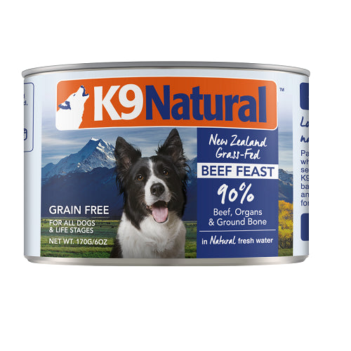 K9 Natural Beef Feast Canned Dog Food, 170 gm | Singpet.Com