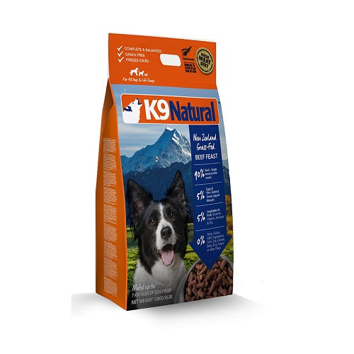 K9 Natural Beef Feast Freeze Dried Dog Food, 1.8 kg | Singpet.Com