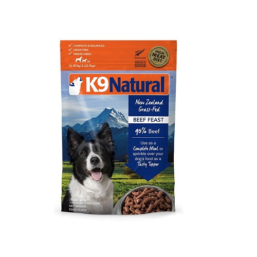 K9 Natural Beef Feast Freeze Dried Dog Food, 500g | Singpet.Com