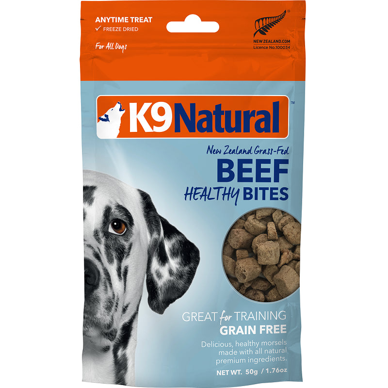 K9 Natural Healthy Bites Dog Treats, Beef | Singpet.Com