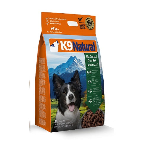 K9 Natural Lamb Feast Freeze Dried Dog Food, 3.6 kg | Singpet.Com