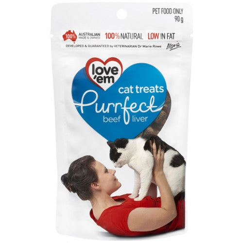 Love'em Purrfect Beef Cat Treats | Singpet.COM