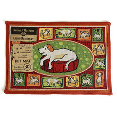 PB Paws & Co. Tapestry Pet Mats, A Dog's Life Rich Aroma Pattern | Singpet.Com
