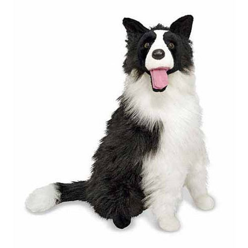 Melissa & Doug Border Collie Dog Giant Stuffed Animal Toy | Singpet.Com
