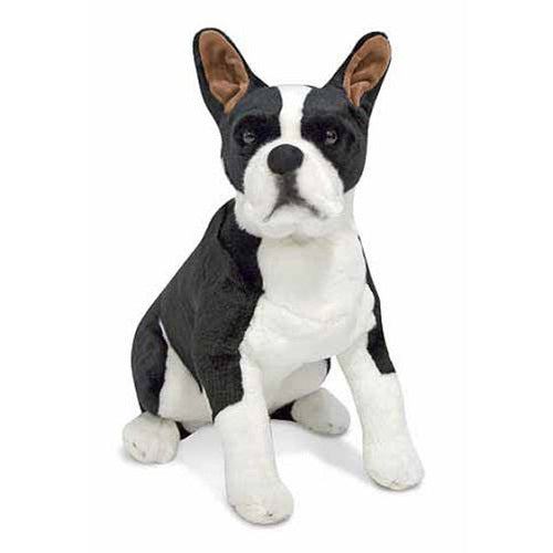 Melissa & Doug Boston Terrier Dog Giant Stuffed Animal Toy | Singpet.Com