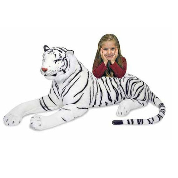 Melissa & Doug White Tiger Giant Stuffed Animal Toy