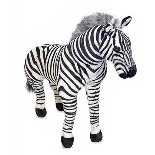 Melissa & Doug Giant Stuffed Animal Toy, Zebra | Singpet.Com.Sg