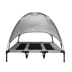 Midlee Dog Cot with Canopy Elevated Pet Bed