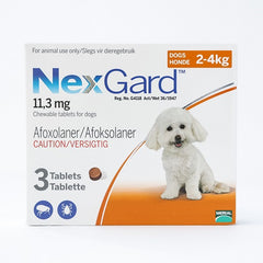 NexGard Chewables for Dogs 2-4 kg (4-10 lbs) | Singpet.COM