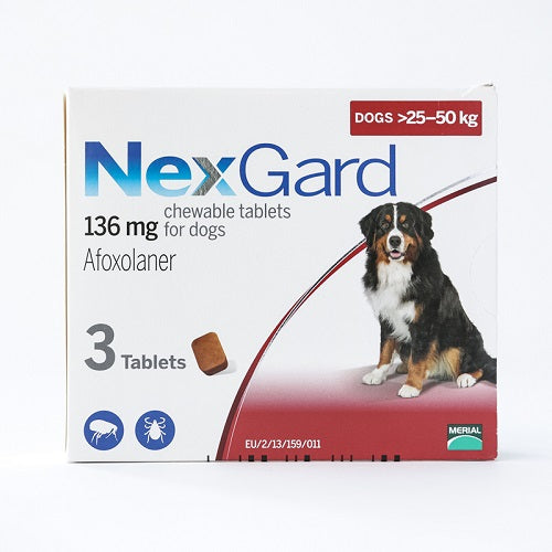 NexGard Chews For Large Dogs 25-50 kg (60.1-121 lbs) 3 Pack | Singpet.Com
