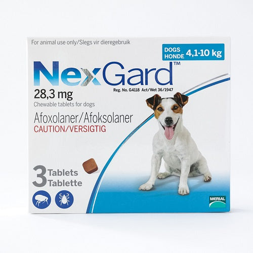 NexGard Chews For Small Dogs 4-10 kg (10.1-24 lbs), 3 Pack | Singpet.Com