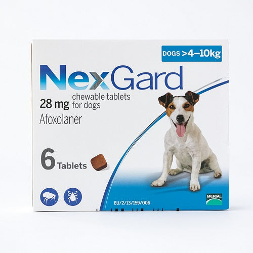 NexGard Chews For Small Dogs 4-10 kg (10.1-24 lbs), 6 Pack | Singpet.Com