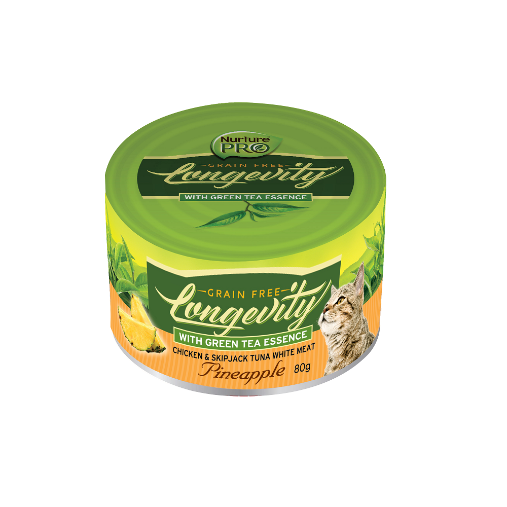 Nurture Pro Longevity Chicken & Skipjack Tuna Meat with Pineapple Cat Canned Food | Singpet.Com