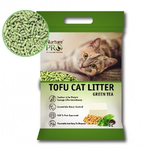 Nurture Pro Tofu Cat Litter, Green Tea | Singpet.COM