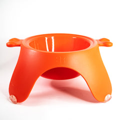 Petego Yoga Food & Water Bowl For Dogs & Cats, (Orange)